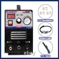 50Amp plasma cutter & pt31 torch consumables plasma cutting machine 1-14mm CUT50
