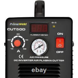 50 Amp Plasma Cutter 1/2 in. Clean Cut 110-Volt/220-Volt DC Cutting Machine