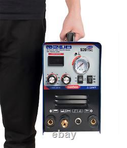 520TSC 220v DC Plasma Cutter MMA/CUT/TIG Inverter Welder Machine & Foot PEDAL