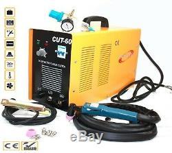 60 Amp 220V Digital Inverter DC Air Plasma Cutter 23mm Cut Machine CUT60 WithGauge