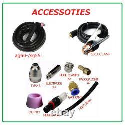 60 Amp Air Plasma Cutter HF DC Inverter Cutting Machine IGBT CUT 1-18mm 220v