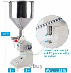 CE A03 Manual Filling Machine For Cream & Shampoo & Cosmetic, Liquid 550ml