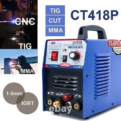 CT418P 3 in 1Plasma Cutter TIG/MMA Machine Digital TIG/MMA/ Welder Pilot Arc CNC
