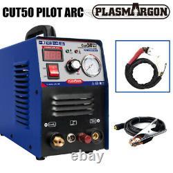 CUT50 Pilot Arc Air Plasma Cutter Machine DC Inverter 50A 110/220V & WSD60 Torch