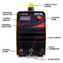 CUT50 Plasma Cutter 50A DC Inverter 230V Air Plasma Cutting Machine &Torch Kits