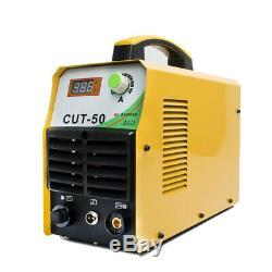 CUT50 Plasma Cutter Inverter 50A DC 230V Air Cutting Machine CUT 12mm&Torch Kits