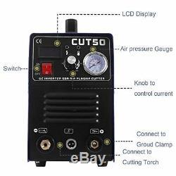 CUT50 Portable Air Plasma Cutter Electric Inverter Digital Cutting Machine 50AMP