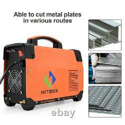 HITBOX Air Plasma Cutters Steel Aluminum Cutting Machine 50A Dual Volt Cut 220V