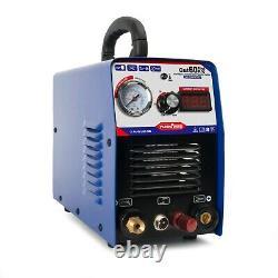 Icut60p 60a Igbt Air Plasma Cutter Cleanly Cutting Display Machine & P80 Torch