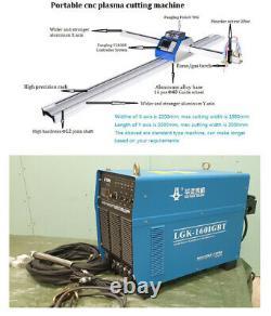 NEW Portable CNC Plasma Cutter Machine 15003000mm & HUAYUAN LGK-160IGBT Plasma
