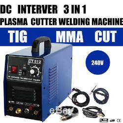 Non-Touch Pilot Arc Air Plasma Cutter/Tig/Stick Welder 3 in 1 Welding Machine