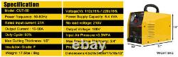 Plasma Cutter 50Amp CUT50 Machine Inverter Dual Voltage Portable & Consumables