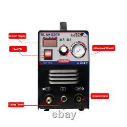Plasma Cutter 50Amp Dual Voltage Inverter DC Cutting Machine 1-12mm Cut Metal
