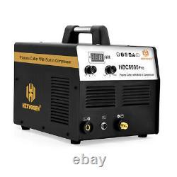 Plasma Cutter With Built-In Air Compressor Inverter Cutting Machine 220V 40Amp