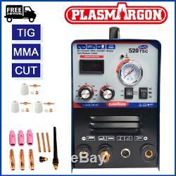 Plasma cutter welder welding 3 functions 520tsc group sales machine + FOOT PEDAL