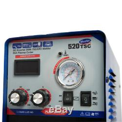 110v / 220v Nouveau Multifonction Mma / Tig / Cut Machine De Soudage 520tsc 3 In 1 Vente Chaude