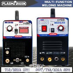 200 Amp Tig Arc Soudeur & Tig/arc/cut 3 En 1 Plasma Cutter Machine Diy 230v