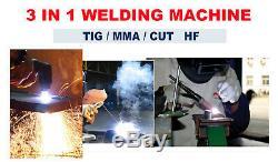 3 En 1 Fonctionnelle Plasma Cutter / Tig / Mma Machine De Soudure En Acier Inoxydable Bricolage