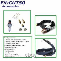 50a Air Plasma Cutter Machine Hf Démarrer Digital DC Onduleur Clean Cut 10/220v Us