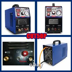 50a Plasma Cutter Machine Pilote Arc Cnc Compatible Plasma Cutting & P80 Torch