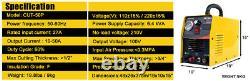 50amp Pilot Arc Plasma Cutter DC Inverter Machine De Coupe D'air 230v & Accessoire