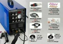 7 En 1 Igbt Aluminium Soudeur Plasma Cutter Machine 200a Ac/dc Pulse Tig/mma 230v