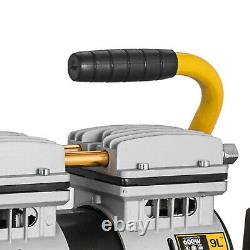 9 L Compresseur D'air Sans Huile 600w 1hp 4cfm 8bar Plasma Cutter Welding Machine