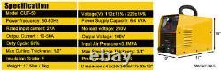Air Plasma Cutter Cut50 Cut Machine 50amp Onduleur Digital 14mm Accessoires