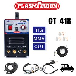 Ct418 / Ct418 Arc Pilote Tig / Mma / Cut Air Plasma Cutter Machine De Soudure 110/220 V