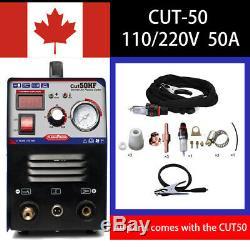 Cut50 Digital Air Coupe 50a Plasma Cutter Machine De Soudure 110/220 V Ca En Stock