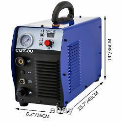 Cut-80 80a Air Plasma Cutter Machine Onduleur Cutter Touch Pilot Arc 110-220v