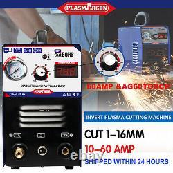 Igbt Cut60 Plasma Cutter Machine110/220v 3/4 Clean Cut & Ag60 Torche