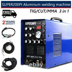 Nouveau Coupeur De Plasma De Machine De Soudeur En Aluminium Igbt 200a Ac/dc Pulse Tig/mma Wieding