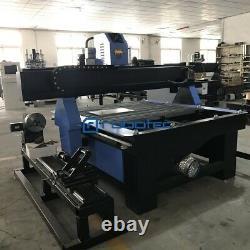 Nouvelle Table De Machine De Découpage De Métal De Plasma De 15000150mm, Coupeur De Cnc Avec Le Tuyau Rotatif
