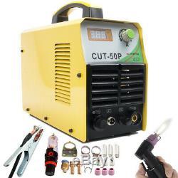 Plasma Cutter 50a Onduleur Coupe Métal Machine 230v Pilote Arc Torche Et Kits