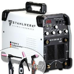 Soudeur Stahlwerk Ac / DC Tig 200 St Avec Plasma Cutter Machine De Soudage Inverter
