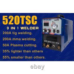 Tig Mma Cut Plasma Cutter Soudeur Soudeur Stick Welding Machine 3in1 520tsc GB